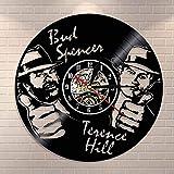 Wanduhr aus Vinyl Schallplattenuhr Upcycling 3D (Bud Spencer Terence Hill) Design-Uhr Wand-Deko Vintage Familien Zimmer Dekoration Kunst Geschenk, Durchmesser 30
