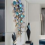 Moderner Luxus 3D Seerose Metall Art Wandskulptur - Modern Wohnkultur Wohnzimmer Wanddekoration Metallbild Wandrelief Wanddeko Handgefertigt Wandbild (53.2 x 27.2 x 3.5 Zoll)