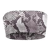 Kidneykaren Damen Bandeau- Multitube Top Mini- Tube Fitness & Freizeit Raw Python (Schlangen Muster), Größe:M