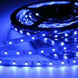 Signcomplex Flexibler LED Streifen 3528 SMD LED mit 3M Selbstklebe band 5 Meter pro Rolle 12 V DC (Blau)