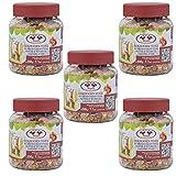 SIDCO Eichhörnchenfutter 5 x 200 g Eichhörnchen Erdnussbutter Nüsse Futtermischung