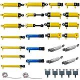 Fujinfeng Technik Pneumatic Zylinder Set für Lego, 32 Stücke 10-Kind Custom Pumpen Set für Kräne, Lastwagen, Verschiedene bautechnische Fahrzeuge