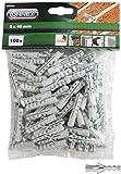 Connex Dübel Ø 8 mm - 100 Stück im praktischen Set - Polypropylen - Für einfache Befestigungsarbeiten in Vollstein & Beton / Dübel-Set / Universaldübel / B33388