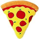 moodrush® Pizza Kissen - Pizzastück   Geschenk   alle Elemente aufgestickt (Nicht Bedruckt!)   waschbar   ca. 40x40 cm   Versand AUS Deutschland!