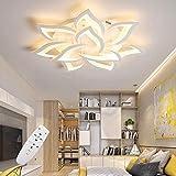 Moderne LED Deckenleuchte mit fernbedienung , Wohnzimmerlampe mit Dimmbar Farbwechsel ,Schlafzimmer Deckenlampe Deckenbeleuchtung Kronleuchter Lampe,Dimming Innenbeleuchtung