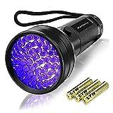 Vansky UV Schwarzlicht Taschenlampe mit 51 LEDs | Haustiere Urin-Detektor für Eingetrocknete Flecken Ihrer Hunde, Katzen und Nagetiere auf Teppichen, Vorhänge | inkl. 3xAA-Batterien