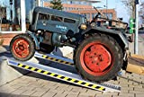2 Stück TrutzHolm® Profi Alu Auffahrrampe ca. 265 cm bis 3100 kg/Paar Verladerampe Verladerampen Laderampe Laderampen Auto
