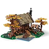 KEAYO Landhaus Modell, 1371 Teile Altes Haus Gebäude Bausatz Kompatibel mit Lego Baumhaus, MOC-64694