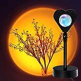 Sunset Lamp Sonnenuntergang Projektion Lampe, Vtarcza Herzförmig 180° Drehung USB LED Projektor Licht Sunset Nachtlicht, Romantische Vision Mood Lighting Lampe für Schlafzimmer Wohnzimmer Dekor