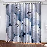 fgjorics Golf Wasserdichter Und Schimmelresistenter Polyestervorhang Bunter 3D-Heimdekorationsvorhang (2 Paneele) 200(H) X130(W) Cmx2