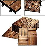 XZhstes M² Holzfliesen Akazie Mosaik Terrassenfliese 30x30 cm Fliese Stecksystem Mosaik Zuschneidbar Terrasse Balkon FSC®-zertifiziertes (Size : 2m²)