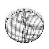 bellissa Hochwertige Yin-Yang-Gitter Form als Grabschmuck wetterfest für Friedhof oder Garten-Deko fürs Beet H4 Ø 38 x 4 cm