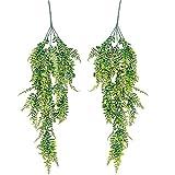 PLANTASIA® 2er Set künstliche Hängepflanze Kunstpflanze Wanddekoration Hängende Pflanze Ranke, 80 oder 120 cm - Schadstoffgeprüft