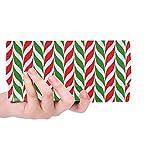 Einzigartige benutzerdefinierte Zuckerstangen Weihnachten Frauen Trifold Wallet Lange Geldbörse Kreditkarteninhaber Fall Handtasche