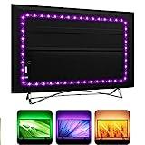 USB TV Backlight LED Strip Lights for HDTV SmartTV with 24Key Remote , 16 Color RGB5050 for Gaming Room Decor, LED Bias Ambient Mood Lighting (3m)