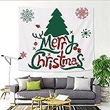 YYRAIN Weihnachtswanddekoration Wandteppich Hängendes Tuch Modernes Zuhause Wohnzimmer Schlafzimmer Wandbehang Weihnachtsbankett Wandbehang Multifunktionale Tischdecke 59x52 Inch{150x130cm}