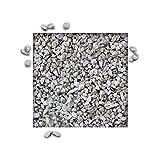 25 kg Dolomitsplitt Creme Weiss Gartensplitt Ziersplitt Deko Dekoration Splitt Körnung 8/12 mm