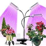 Pflanzenlampe LED, Pflanzenlicht, Pflanzenleuchte 72W, Wachsen licht with 144 Leds, Wachstumslampe Vollspektrum Wachstumslampe für Zimmerpflanzen mit Zeitschaltuhr, Plant Lights Stufenloses D