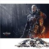 Visionpz 1000 Stück Spiel Puzzles für Erwachsene Kinder The Witcher 3: Wild Hunt Familienpuzzleset Geralt of Livia Puzzle-Lernspiel für den Stressabbau bei Erwachsenen 75x50cm
