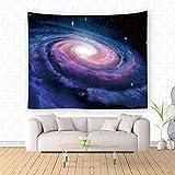 YYRAIN Milchstraße Wandteppich Sternenhimmel Himmel Wandteppich Psychedelisches Universum Leerer Wandteppich Schöner Universum Wandteppich 150x100cm A