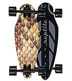 Reptile Abudha Mini Cruiser Skateboard für Kinder und Erwachsene. Die Kurven Stars mit Breiten Longboard Achsen (7 Zoll). Klein, leicht, Supercool. 11 Farben wählbar