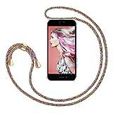 ZhinkArts Handykette kompatibel mit Apple iPhone 7 Plus / 8 Plus - 5,5' Display - Smartphone Necklace Hülle mit Band - Handyhülle Case mit Kette zum umhängen in Rainbow