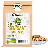 Bio Senfsamen Senfsaat Senfkörner (1kg) ganz gelb auch weiß genannt vom-Achterhof ideal zur Senf-Herstellung