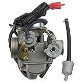 GOOFIT 24mm PD24J Vergaser mit E-Choke mit Benzinfilter und für GY6 150cc ATV Go Kart Moped Scooter 157QMJ Motoren