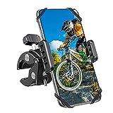 Zomuei Handyhalterung Fahrrad, Handyhalter Motorrad Stabile Anti-Vibration 360 Drehung Verstellbare Universal Fahrradhalterung für iPhone 12/ 12 Pro/ 12 Pro Max/ 11/11 Pro Max/ Samsung S10/ Huawei