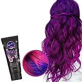 50ML Farbwechsel Haarfarbe Temperatur, Blaue Lila Grün-gelb Grau Haarfarbe Creme, Thermochrome Farbe Hair Dye Für Färben Von Haaren Bei Frauen Und Männern