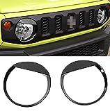 LLKLKL Auto Frontscheinwerfer Lampe Dekoration Cover Aufkleber Aus ABS Kompatibel Mit Suzuki Jimny 2019+,Schwarz