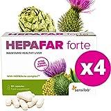 Hepafar Forte   Mariendistel, Artischocke, Löwenzahn Komplex   120 Kapseln hochdosiert   mit Vitamin E, Phospholipide   Innovative patentierte Formel mit hoher Bioverfügbark