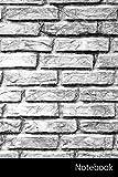 Notebook: Wand, Ziegel, Muster, Steinmauer Notizbuch / Journal / Tagebuch / Komposition Buch - 6 x 9 Zoll (15,24 x 22,86 cm), 150 Seiten, glänzende Oberfläche.