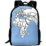 G.H.Y Weltkarte Geografische Erwachsene Reiserucksack Schule Casual Daypack Oxford Outdoor Laptop Tasche College