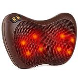 Elektrischer Massagekissen, Shiatsu-Massagegerät mit 8 Massageköpfen, 4D Bidirektionales Rotierenden, 3 Geschwindigkeiten, 15 Minuten Automatische Abschaltung, für Nacken Schulter Rücken Taille Beine