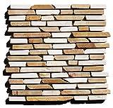 1 qm ST-1-436 Marmor Naturstein Stab Mosaikfliesen Wand-Design Bad Fliesen Lager Verkauf Stein-Mosaik Herne NRW