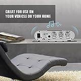 idalinya Verstärker, Stereoverstärker, Smart-Leistungsverstärker, Stereo-Leistungsverstärker, für Zuhause für Fahrzeuge(Black)