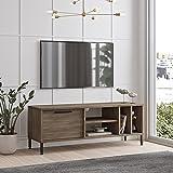 Yurupa TV Lowboard, Fernsehtisch, Unterschrank, Fernsehschrank, Büro, Arbeitzimmer, Wohnzimmer Holzoptik,RT2-CU