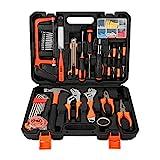 ZTIAN Haushaltswerkzeug-Kit, Autoreparaturwerkzeug-Kit, Homeowner Tool Kit, General Household Hand Tool Kit Mit Hammer, Pliers, Screwdriver Kit, Wrench Kit, Carrying Tool Kit,