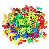 Tomaibaby Rohr Bausteine Steckspielzeug Kinderpuzzle Montage Spielzeug Steckbausteine Kreatives Konstruktionsspielzeug Kinder Motorikspielzeug Builder STEM Spielzeug für Kinder 1 Set/ 176 Stück