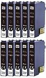 10 XL Druckerpatronen kopatibel für Epson T1631 Nr.16 Nr.16XL geeignet für Epson Workforce WF-2010 WF-2510 WF-2520 WF-2530 WF-2540 WF-2630 WF-2650 WF-2660 WF-2750 WF-2760