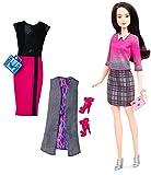 Mattel Barbie DTD99 Barbie Fashionistas Style Puppe und Moden mit Karo-Rock