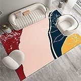 SunYe Rosa Heller Teppich Im Luxusstil, Rechteckiges Sofakissen Für Den Haushalt, Schlafzimmer Mit Bettdecke, Dekorative Decke Für Das Wohnzimmer, rutschfest, Verschleißfest Und Waschb