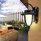 KJAEDL Sconces Wandbeleuchtung. Retro Außenwandleuchten in hochwertigem Aluminium und Glas-Lampenschirm Wasserdichten Outdoor-Wandleuchte Treppe Toreinfahrt Garten Hänge E27 Wandlampe, 16x20x33CM
