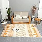 Teppiche wohnaccessoires & deko Gelb weiß geometrischer Teppich ist leicht zu reinigend verfügbares Wohnzimmer waschbarer Teppich Wohnzimmer Teppich für kinderzimmer 80*160