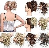 Extensions Updo Hair Scrunchie Haargummi Ponytail Haarteil Haarverlängerung Pferdeschwanz Bun Hellbraun & Aschblond