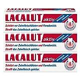 LACALUT AKTIV ZAHNCREME, 100ml Zahnpasta, sofort spürbare Straffung und Festigung des Zahnfleischs, effektive Zahnpflege & Zahnfleischpflege, 3 x 100ml