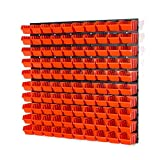100 Stapelboxen Rot mit wandregal 80 x 80 cm | boxen lager wandplatten wandpaneel werkstatt garag