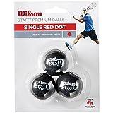 Wilson Squash-Ball, Staff, 3 Stück, Rot, Schwarz, WRT618200
