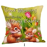 Kissenbezug Ostern Kissenhülle 45x45 cm Ronamick Happy Easter Kissenbezüge Leinensofa (I)